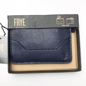 Frye | Melissa wallet key card in a box navy blue